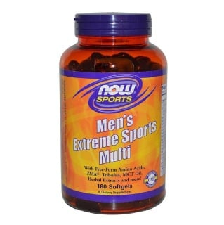 Now Men's Extreme Sports Multi,  180 softgels  Unflavoured