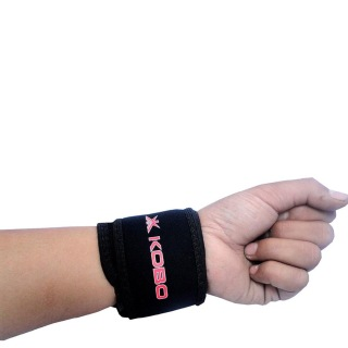 KOBO Neoprene Wrist Adjusable Support (3655),  Black  Free Size