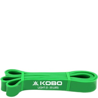 KOBO Power Latex Light Exercise Bands (AC-38),  Green  82 Inch