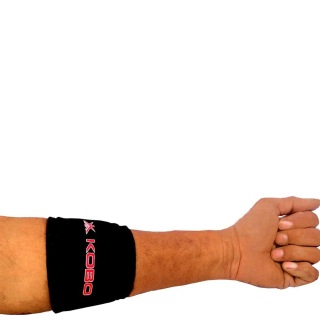 KOBO Neoprene Tennis Elbow Support (3635),  Black  Free Size