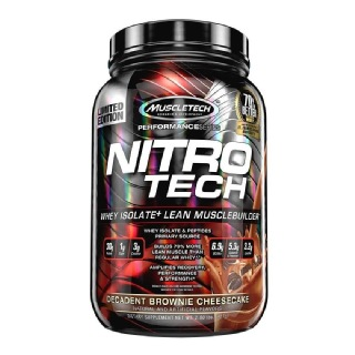 MuscleTech NitroTech Performance Series,  2 lb  Decadent Brownie Cheesecake