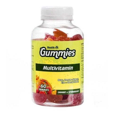 Healthvit Multivitamin,  Orange & Strawberry  60 gummies