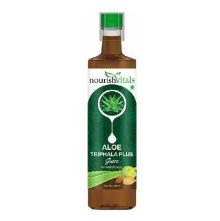NourishVitals Aloe Triphala Plus Juice,  Natural  0.5 L