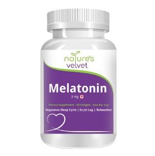 Natures Velvet Melatonin 3mg,  60 softgels
