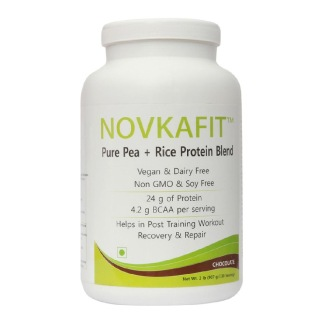 Novkafit Pure Pea + Rice Protein Blend,  2 lb  Chocolate