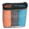 Rocclo Pack of 3 T Shirt-5083,  Orange, Grey & Aqua Blue  Medium