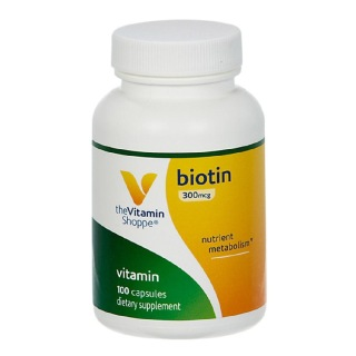 The Vitamin Shoppe Biotin (300 mcg),  100 capsules  Unflavoured