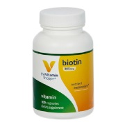 The Vitamin Shoppe Biotin (300 mcg),  Unflavoured  100 capsules