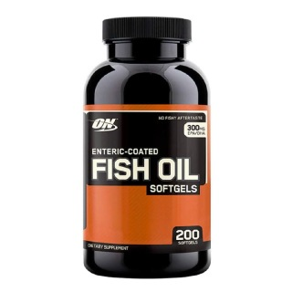 ON (Optimum Nutrition) Enteric Coated Fish Oil,  200 softgels