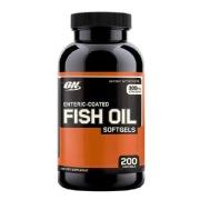 ON (Optimum Nutrition) Enteric Coated Fish Oil,  200 softgels