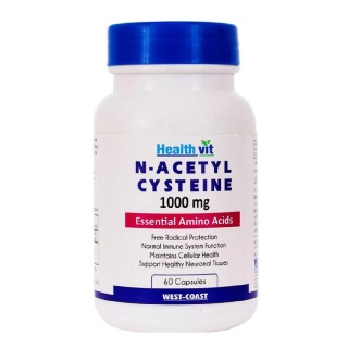 Healthvit N-Acetyl Cysteine (1000 mg),  60 capsules