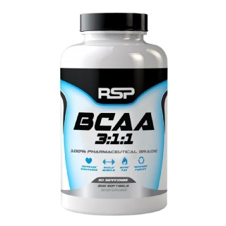 RSP Nutrition BCAA 3:1:1,  200 capsules  Unflavoured
