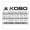 KOBO Back Support Weight Lifting Gym Belt (WTB-03),  Black  Large