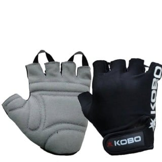 KOBO Weight Lifting Gloves (WTG-05),  Black  Large