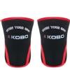 KOBO Weight Lifting Knee Wraps Bandages,  Black & Red  Large