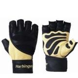 Harbinger Big Grip II WristWrap Gloves,  Tan  Medium
