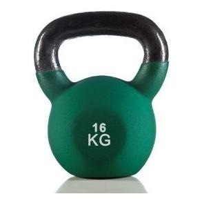 Co-Fit Neoprene Kettle Bells,  Green  16 Kg