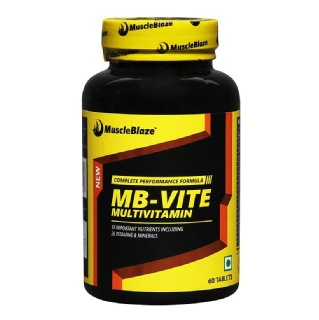 MuscleBlaze MB VITE Multivitamin, Unflavoured old 60 tablet s  available at Healthkart for Rs.449